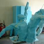 Gail Folwell - Challenge - Blue foam.