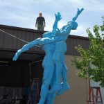 Gail Folwell - Challenge - Blue foam, fully assembled.