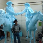 Bradford J. Williams - Binding Contract - Blue foam, with the artist himself.