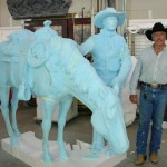 Bradford J. Williams - One for the Road - Blue foam. with the artist himself.