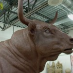 Jocelyn Russell - USU Bull - Up close and personal clay.